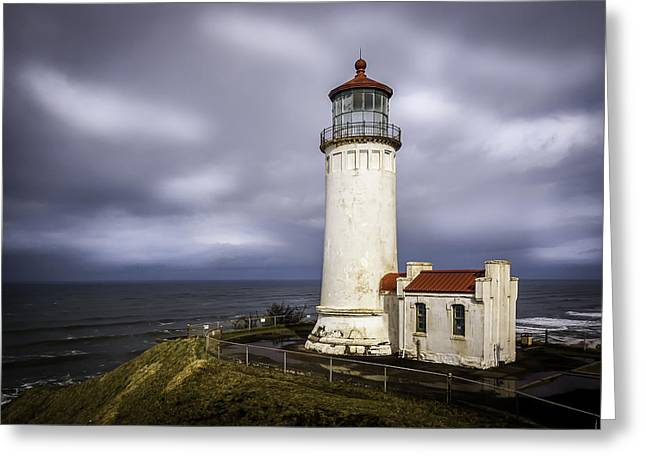 North Head Lighthouse At Sunrise Greeting Card
