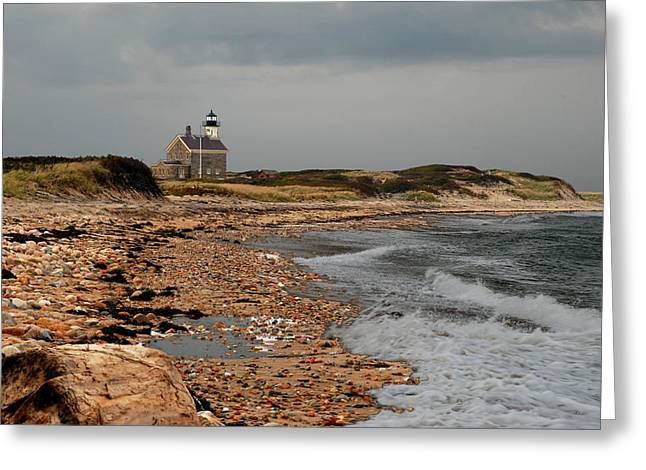 Greeting Card featuring the photograph North Light Block Island by Nancy De Flon