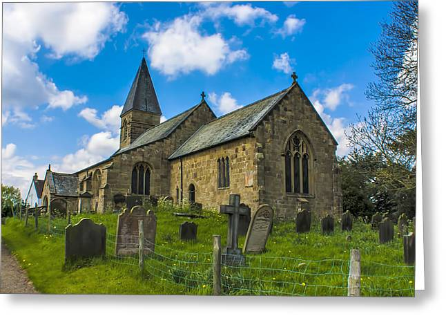 North Otterington Church Greeting Card by Trevor Kersley