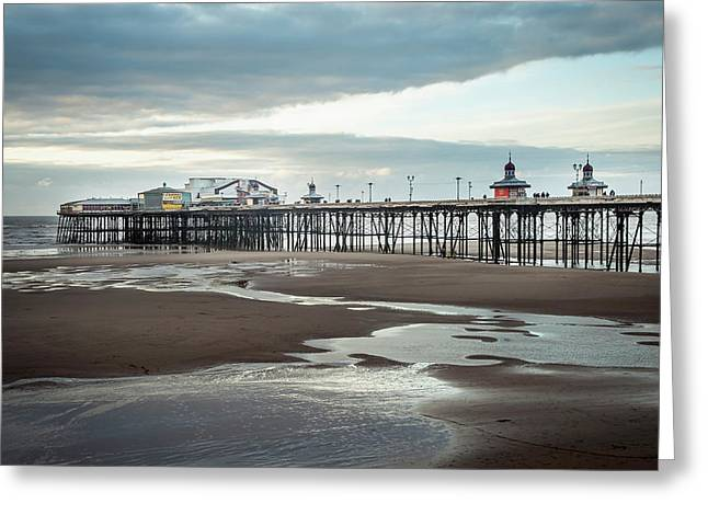 North Pier  Blackpool, Lancashire Greeting Card