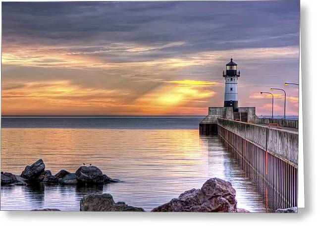 North Pier Morning Greeting Card
