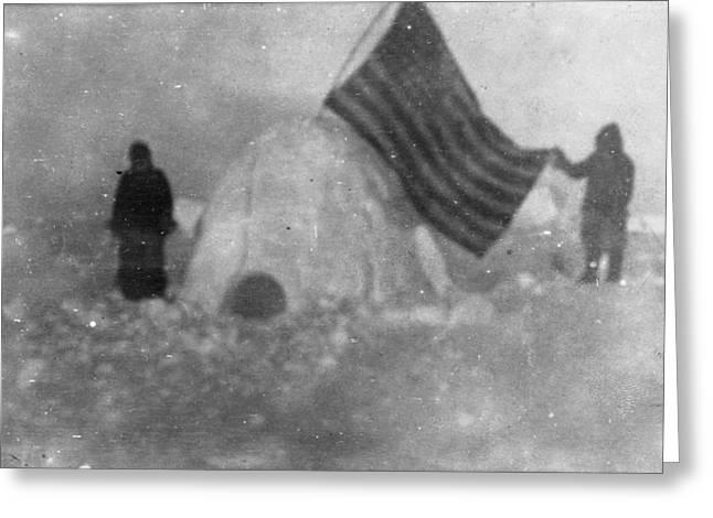 North Pole Igloo, C1909 Greeting Card