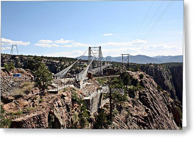 North Royal Gorge Bridge Greeting Card