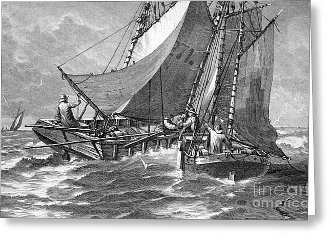 North Sea Liquor Smuggling, 1880s Greeting Card by Bildagentur-online