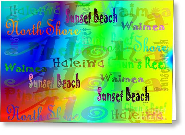North Shore Beaches Greeting Card