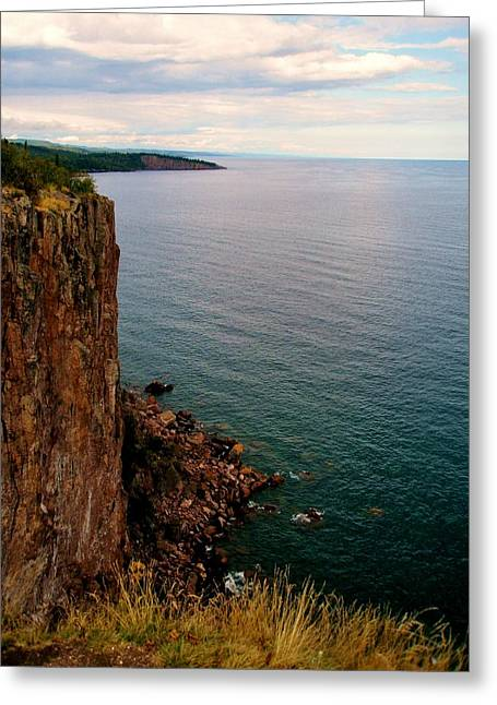 North Shore Cliff Greeting Card