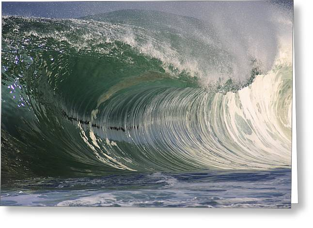 North Shore Powerful Wave Greeting Card by Vince Cavataio