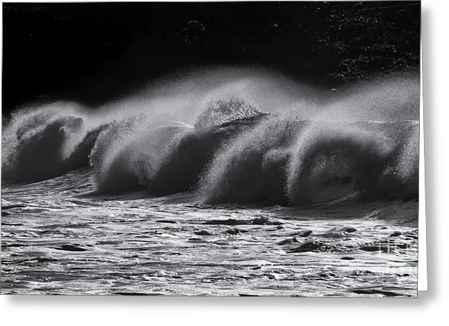 North Shore Spindrift Greeting Card by Mike Dawson