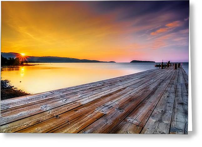 Greeting Card featuring the photograph North Shore Sunrise Grand Portage Mn by RC Pics
