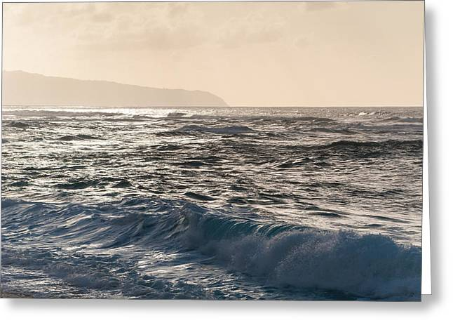 North Shore Waves Greeting Card