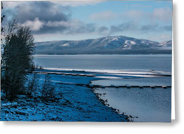 North Shore Winter Blues Greeting Card