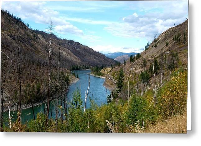 North Thompson River 1 Greeting Card
