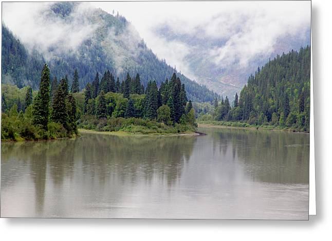 North Thompson River Greeting Card by Janet Ashworth