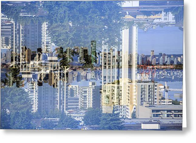 North Vancouver Up Side Down Greeting Card