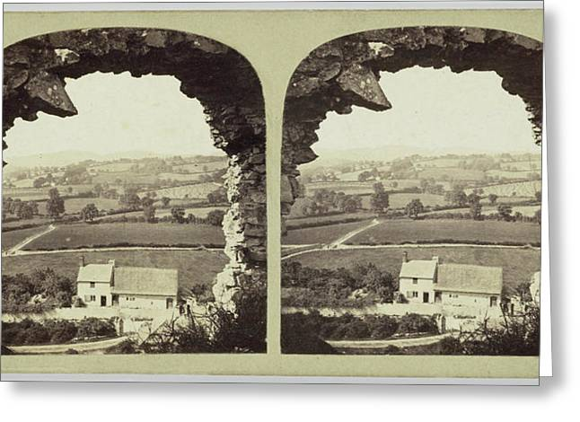 North Wales View In The Vale Of Clwyd, From Denbigh Castle Greeting Card by Artokoloro