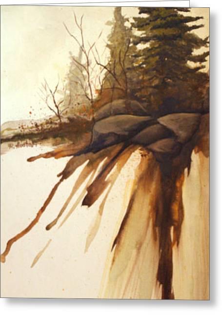 North Woods Pines Greeting Card by Rick Huotari