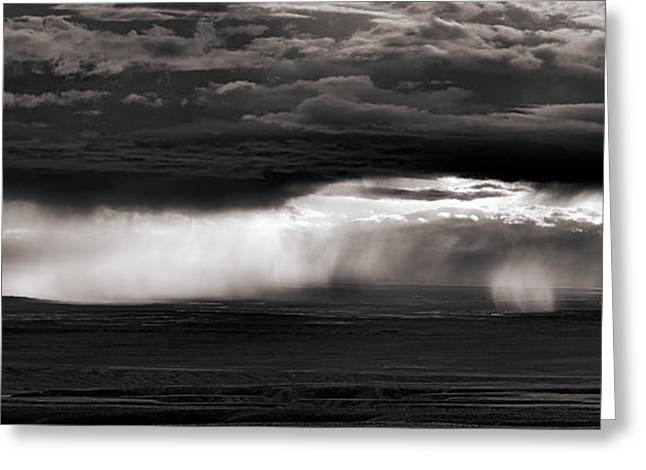 North Wyoming Thunder Shower Greeting Card by Leland D Howard