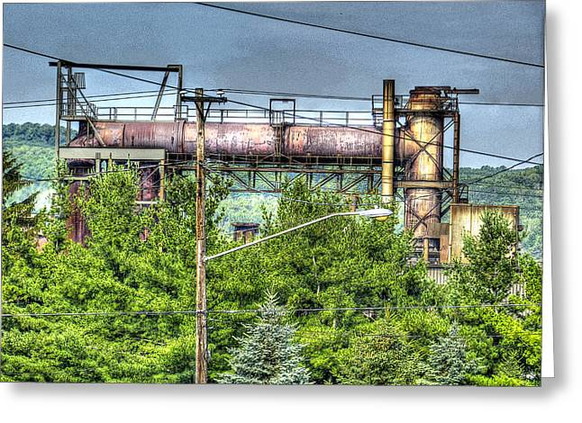 Northcountry Industrial Greeting Card by MJ Olsen