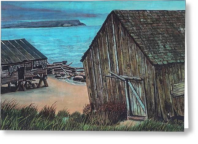 Northeast Coast Beach Greeting Card