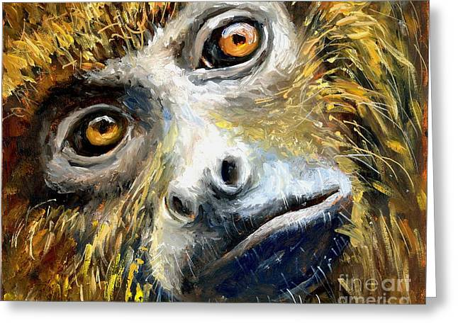 Northern Brown Howler Monkey Greeting Card