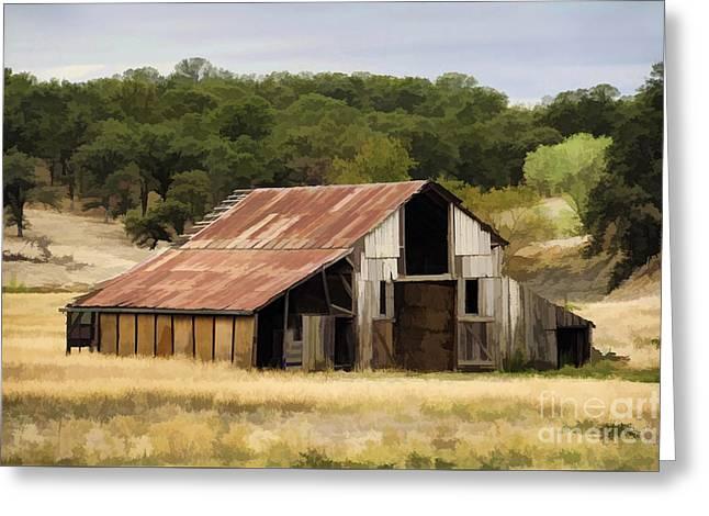 Northern California Barn Greeting Card