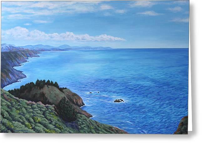 Northern California Coastline Greeting Card by Penny Birch-Williams