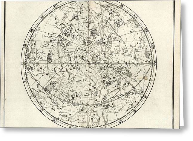 Northern Constellations, 18th Century Greeting Card by United States Naval Observatory
