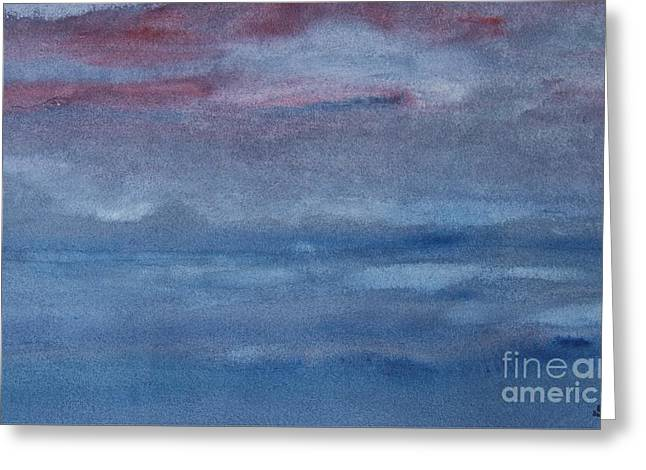 Northern Evening Greeting Card by Susan  Dimitrakopoulos