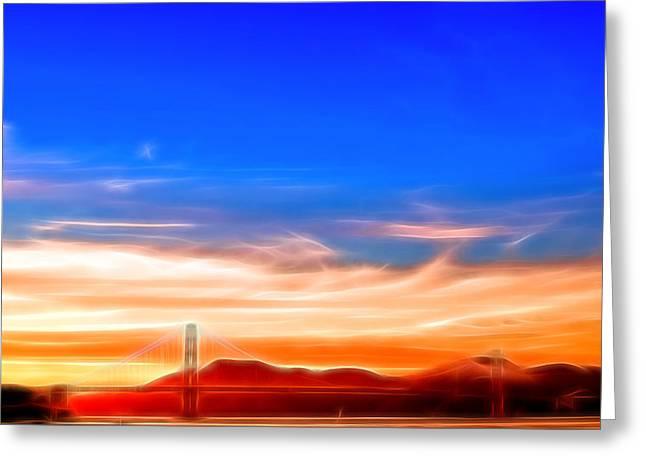 Northern Gateway To Silicon Valley Greeting Card by Kayta Kobayashi