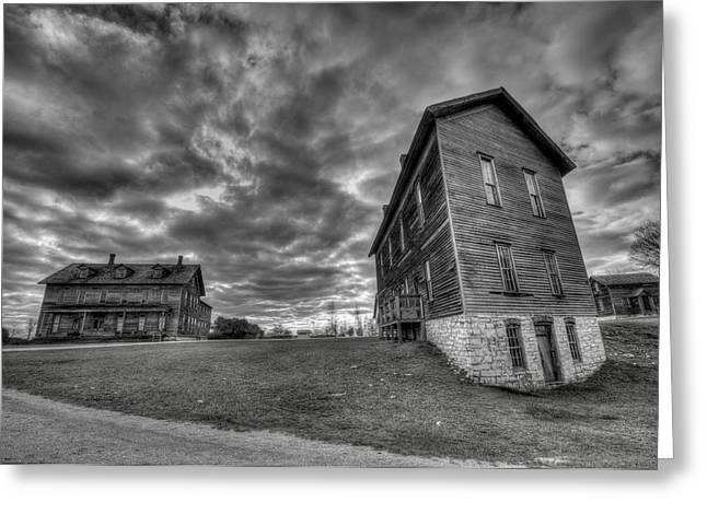 Northern Ghost Town Greeting Card by Steve Goddard
