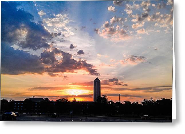 Northern Illinois University Summer Sunrise Greeting Card by Jason Borg