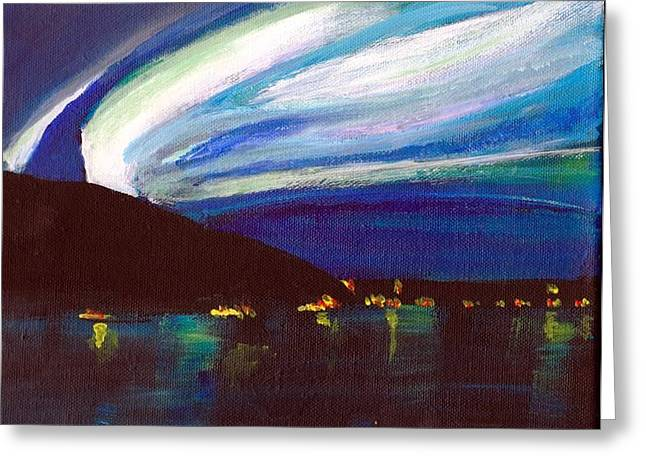 Northern Lights Bay Greeting Card