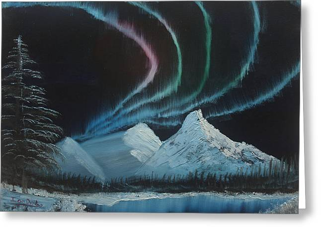 Northern Lights Greeting Card by Ian Donley