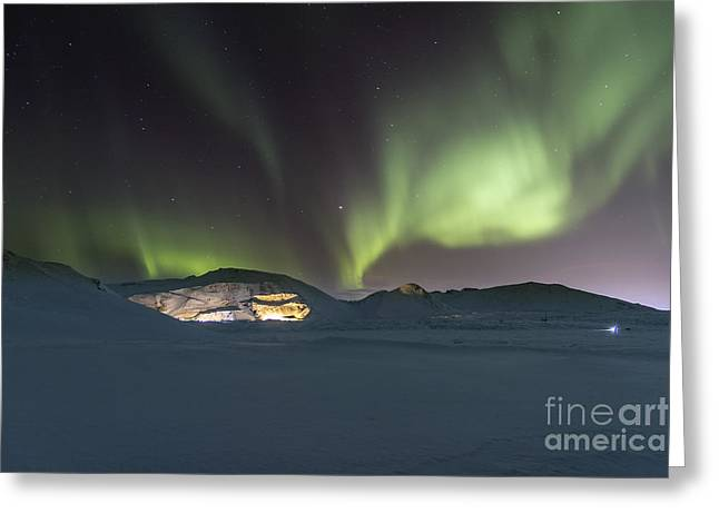 Northern Lights Iceland Greeting Card