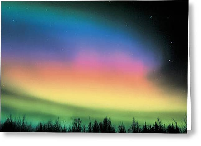 Northern Lights Greeting Card by Panoramic Images