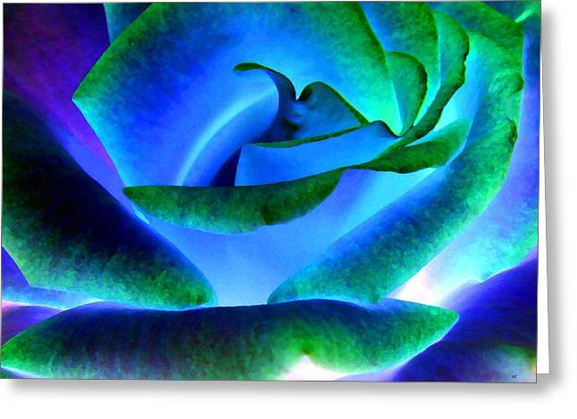 Northern Lights Rose Greeting Card