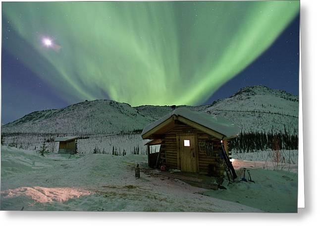 Northern Lights Shimmer Greeting Card by Hugh Rose