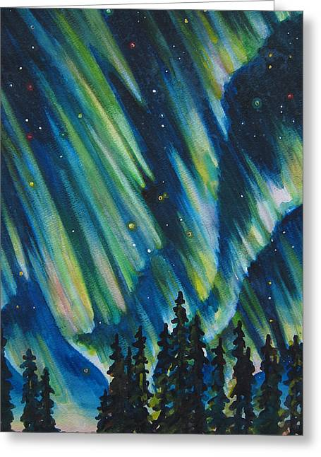 Northern Lights V Greeting Card