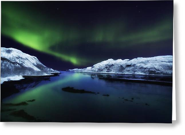 Northern Lights Greeting Card by Wade Aiken
