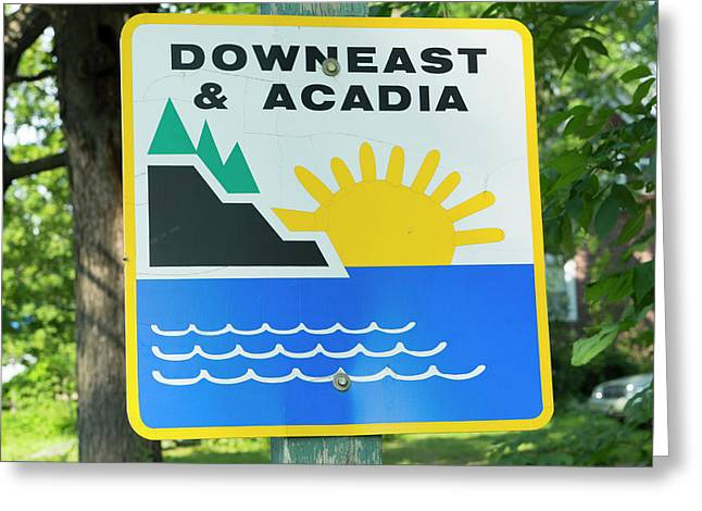 Northern Maine, Road Down East Greeting Card by Bill Bachmann