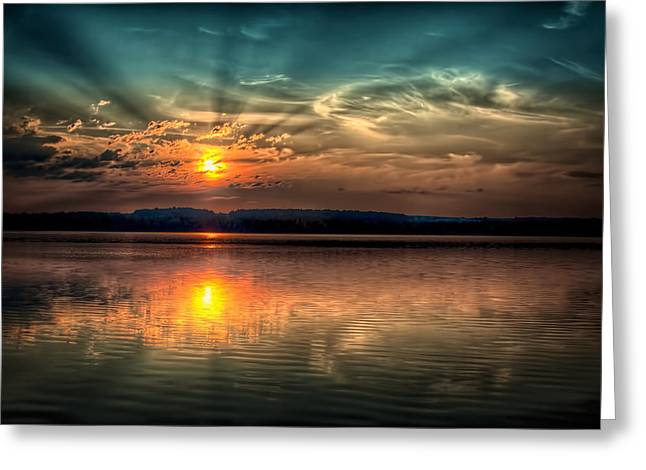 Northern Maine Sunrise Greeting Card by Gary Smith