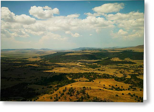 Northern New Mexico From The Capuchin Volcano Greeting Card by Jeff Swan