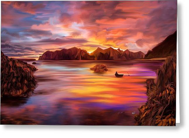 Northern Norway - Ipad Version Greeting Card by Angela A Stanton