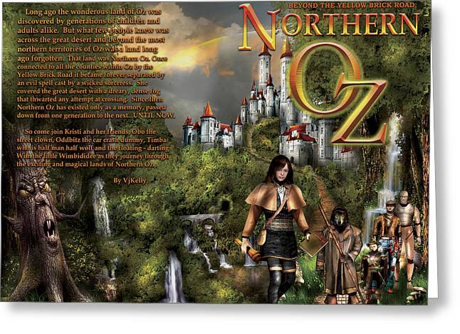 Northern Oz Front And Back Cover 2 Greeting Card by Vjkelly Artwork
