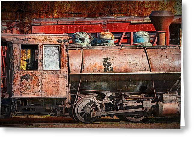 Northern Pacific Vintage Locomotive Train Engine Greeting Card by Randall Nyhof