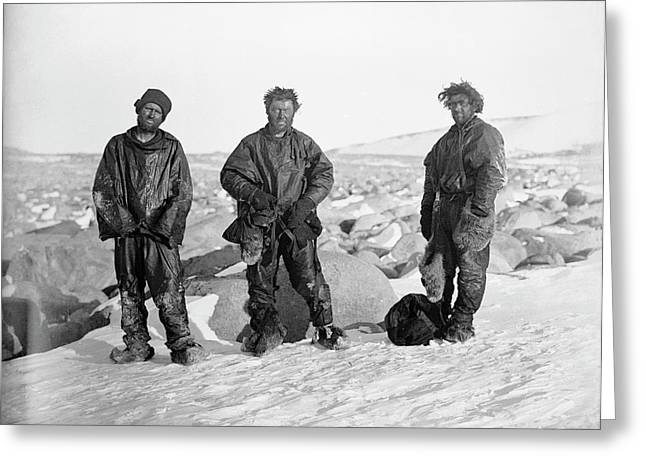Northern Party Antarctic Explorers Greeting Card by Scott Polar Research Institute