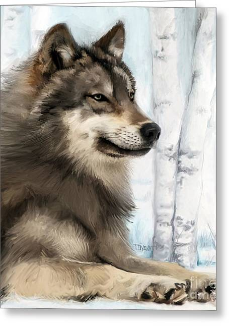 Northern Rocky Wolf... Greeting Card