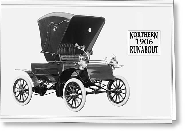 Northern Runabout Convertible 1906. Greeting Card