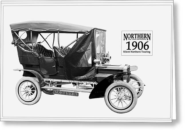 Northern Silent Touring Car I 1906.  Greeting Card