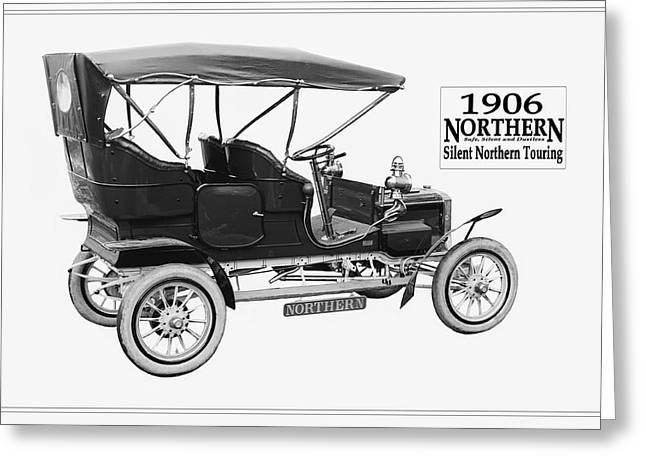 Northern Silent Touring Car II 1906.  Greeting Card